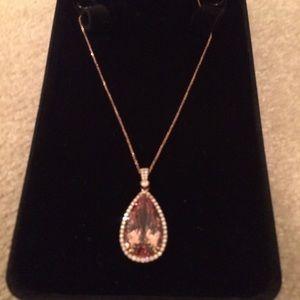 Jewelry - 24kt beautiful Morganite necklace